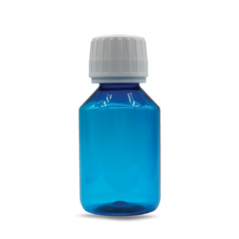 100 ml PET empty bottle blue